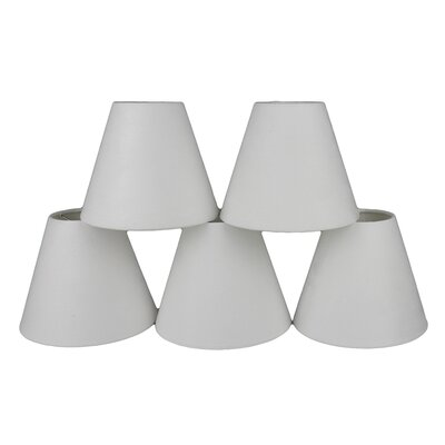 6 Suede Empire Lamp Shade Color: Off White