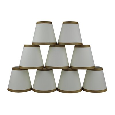 5 Silk Empire Candelabra Shade with Trim Color: Eggshell