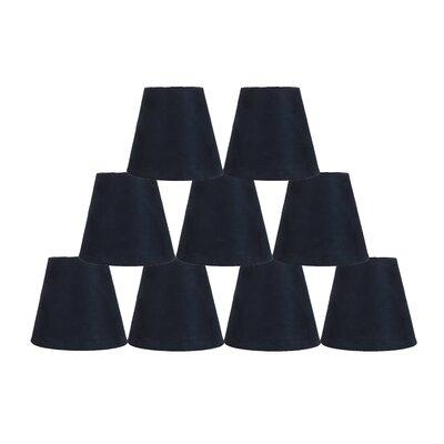 5 Suede Empire Candelabra Shade Color: Navy Blue