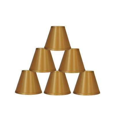 6 Satin Empire Lamp Shade Color: Gold