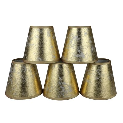 5 Paper Empire Clip-on Candelabra Shade Finish: Gold