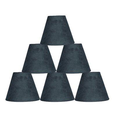 6 Suede Empire Lamp Shade Color: Gray