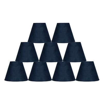 6 Suede Empire Lamp Shade Color: Navy Blue