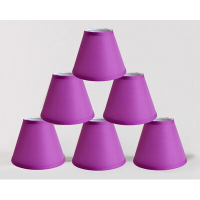 6 Satin Empire Lamp Shade Color: Purple