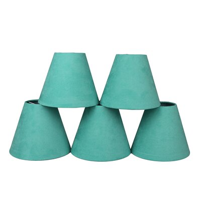 6 Suede Empire Lamp Shade Color: Turquoise