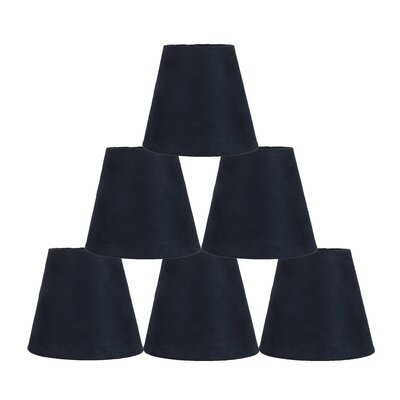 5 Suede Empire Candelabra Shade Color: Navy Blue