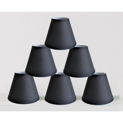 6 Satin Empire Lamp Shade Color: Black
