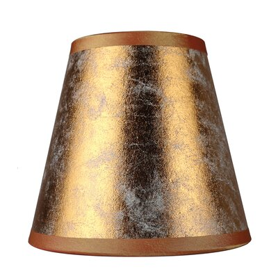 5 Paper Hardback Empire Clip-on Candelabra Shade Finish: Copper