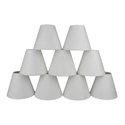 6 Suede Empire Lamp Shade Color: Off-White
