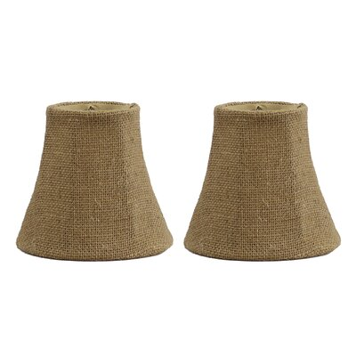 5 Burlap Bell Clip-on Candelabra Shade