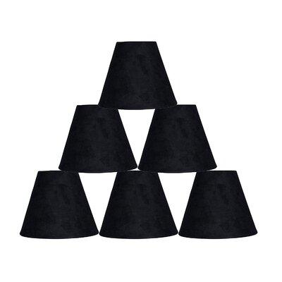 6 Suede Empire Lamp Shade Color: Black