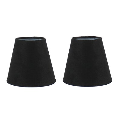 5 Suede Empire Clip-on Candelabra Shade Color: Black