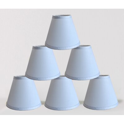 6 Satin Empire Lamp Shade Color: Baby Blue