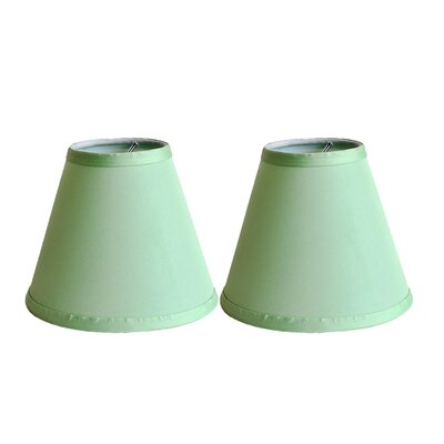 6 Satin Empire Clip-on Lamp Shade Color: Olive Green