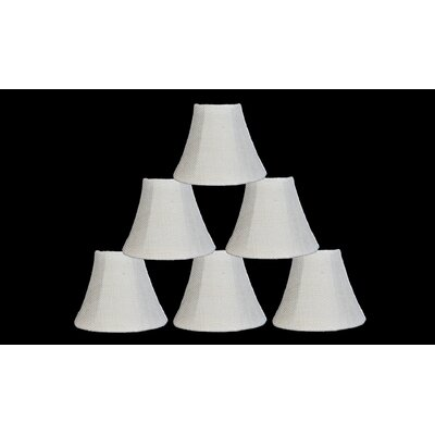 6 Burlap Bell Candelabra Shade Color: Ivory