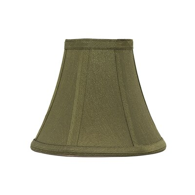6 Silk Bell Candelabra Shade Color: Olive Green