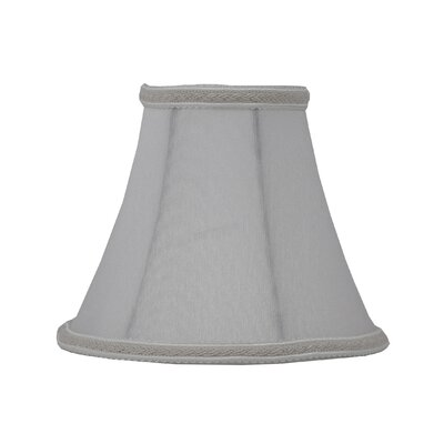 6 Silk Softback Bell Lamp Shade Color: Off White