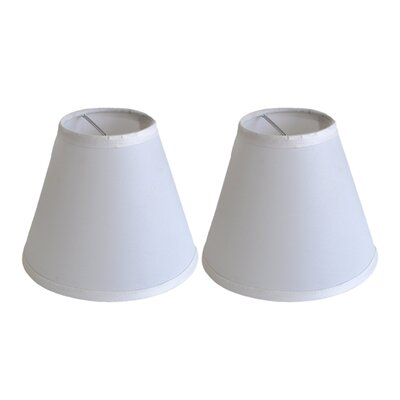6 Satin Empire Clip-on Lamp Shade Color: Off White