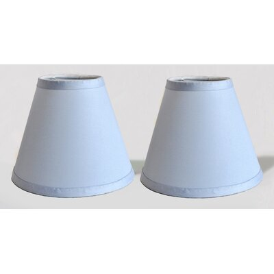6 Satin Empire Clip-on Lamp Shade Color: Baby Blue