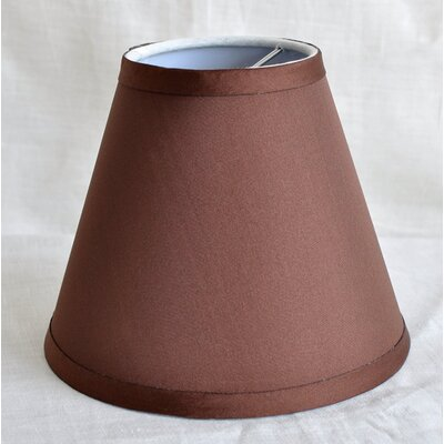 6 Satin Empire Lamp Shade Color: Coffee