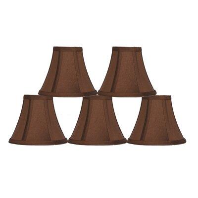 6 Silk Bell Candelabra Shade Color: Copper