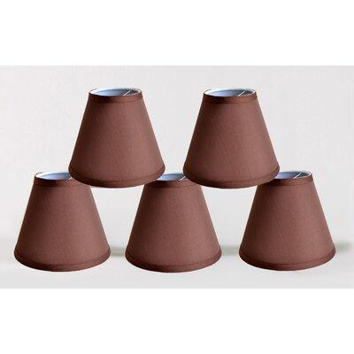 6 Satin Empire Lamp Shade Color: Coffee