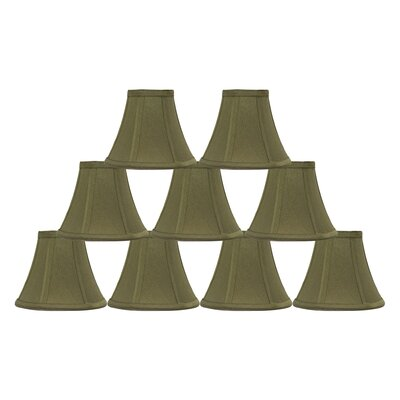 6 Silk Bell Lamp Shade Color: Olive Green