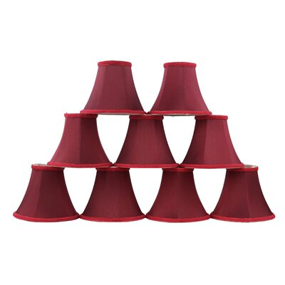 6 Silk Bell Clip-on Lamp Shade Color: Burgundy