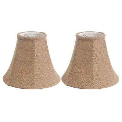 6 Burlap Bell Clip-on Candelabra Shade Color: Natural