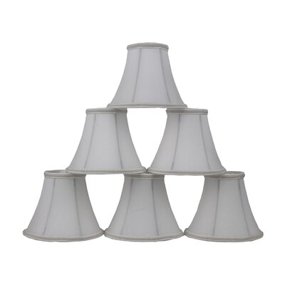 6 Silk Bell Clip-on Lamp Shade Color: Off White