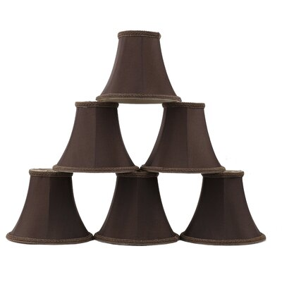 6 Silk Bell Clip-on Lamp Shade Color: Chocolate