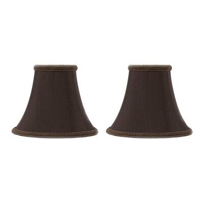 6 Silk Softback Bell Clip-on Lamp Shade Color: Chocolate