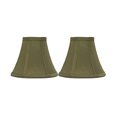 6 Silk Bell Clip-on Candelabra Shade Color: Olive Green