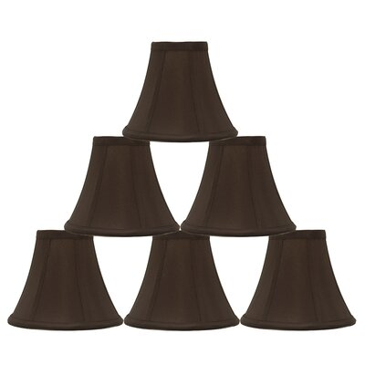 6 Silk Bell Candelabra Shade Color: Chocolate