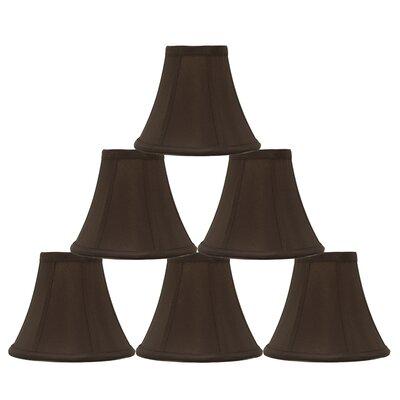 6 Silk Bell Candelabra Shade Color: Chocolate