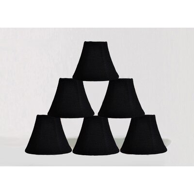 6 Burlap Bell Candelabra Shade Color: Black