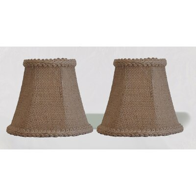5 Burlap Bell Clip-on Candelabra Shade with Trim