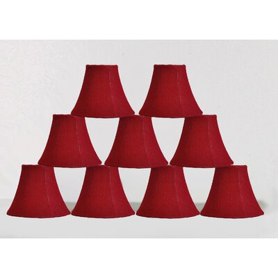 6 Burlap Bell Candelabra Shade Color: Red