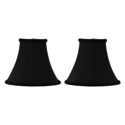 6 Silk Softback Bell Clip-on Lamp Shade Color: Black