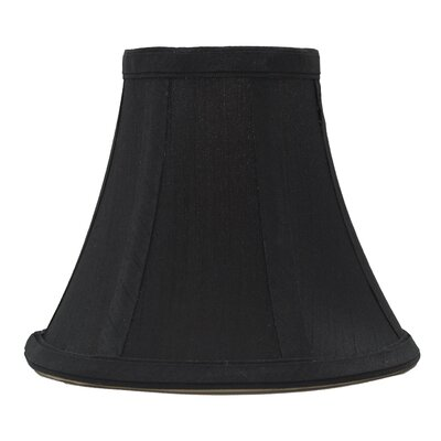 6 Silk Bell Candelabra Shade Color: Black