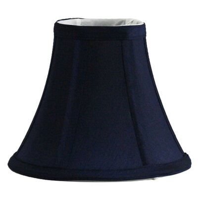 6 Silk Bell Candelabra Shade Color: Navy Blue