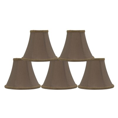 6 Silk Bell Clip-on Lamp Shade Color: Taupe