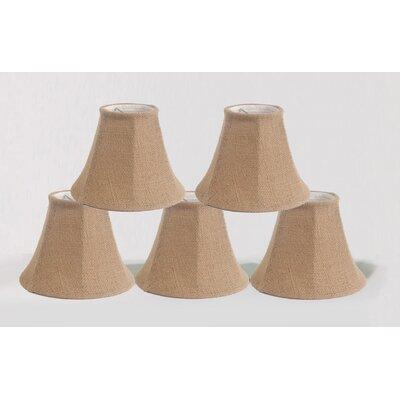 6 Burlap Bell Candelabra Shade Color: Natural