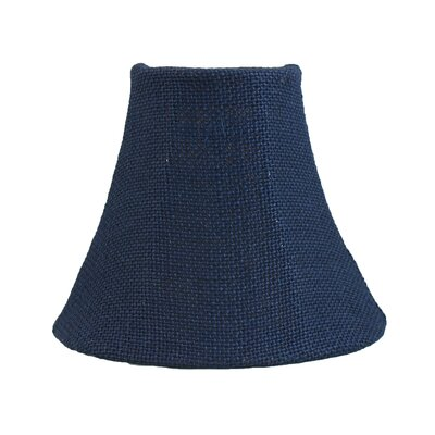 6 Burlap Bell Candelabra Shade Color: Blue