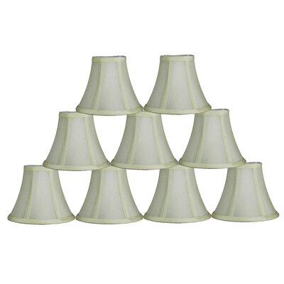 6 Silk Bell Lamp Shade Color: Eggshell