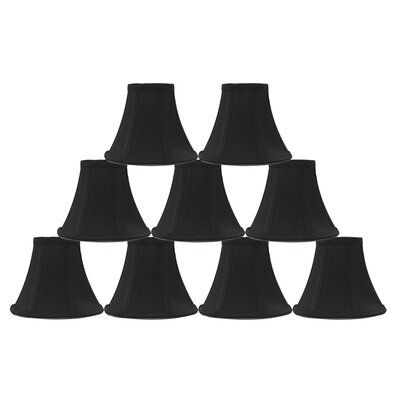 6 Silk Bell Lamp Shade Color: Black