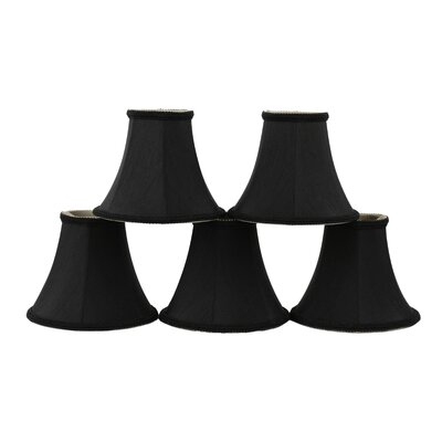 6 Silk Bell Clip-on Lamp Shade Color: Black