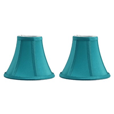 6 Silk Bell Clip-on Candelabra Shade Color: Teal