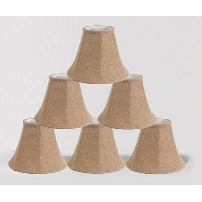 6 Burlap Bell Candelabra Shade Color: Natural