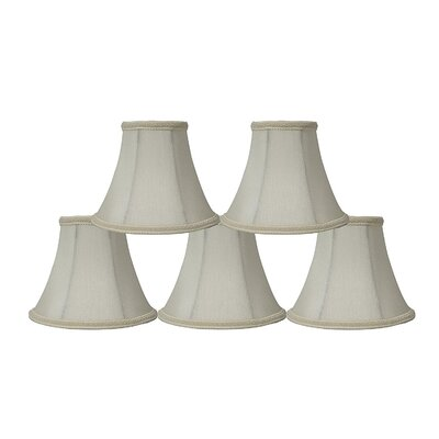 6 Silk Bell Clip-on Lamp Shade Color: Eggshell